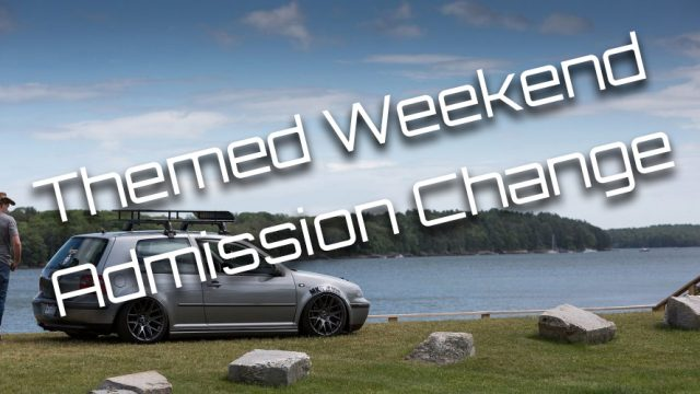 Themed Weekend Admission Change